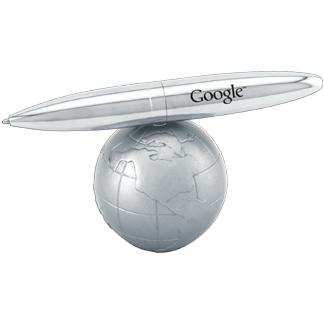 PN-GL - Globe Pen Stand With Pen